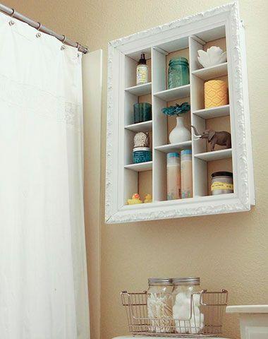 Bathroom Storage Ideas for Small Spaces - Frame It - Click Pic for 42 DIY Bathroom Organization Ideas