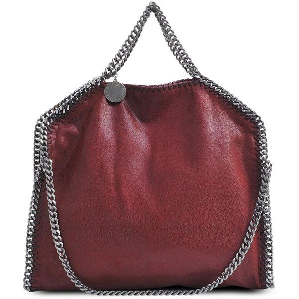 Stella McCartney Falabella 3 Chains Shaggy Deer Bag ($795) ❤ liked on Polyvore featuring bags, handbags, borse, stella mccartney, red bag, chain strap bags, shoulder strap bags, stella mccartney purse and deer purse