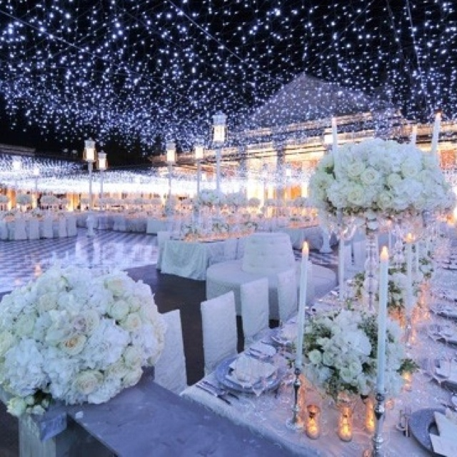 Dreamy. Excuse me...does this mean someone's reception actually looked like this?!
