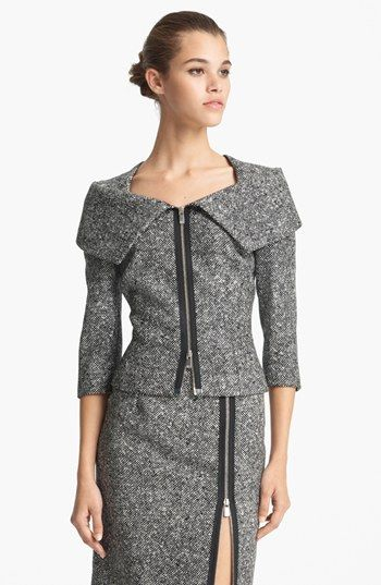 Michael Kors Origami Collar Tweed Jacket available at #Nordstrom