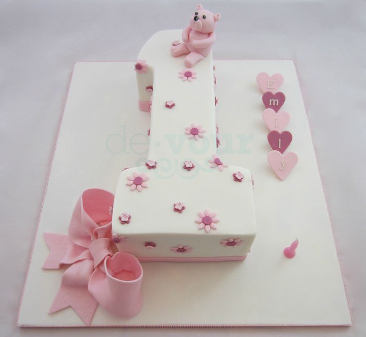 Cake Design For One Year Birthday : Number 1 cake, first birthday cake, number one cake, girl ...