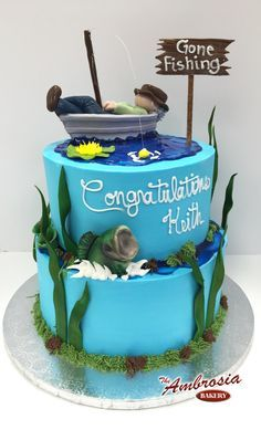 Gone Fishing Retirement Cakes