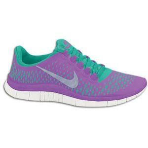 Nike Free Run 3.0 V4 - Women's - Laser Purple/Reflective Silver/Atomic Teal