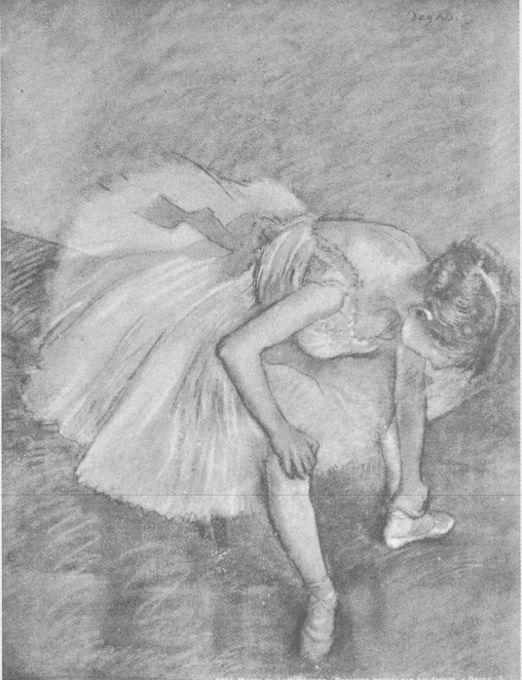 Degas. Silhouette, mass drawing.