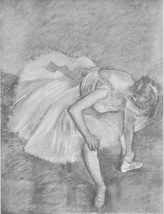 Degas. Silhouette, mass drawing.