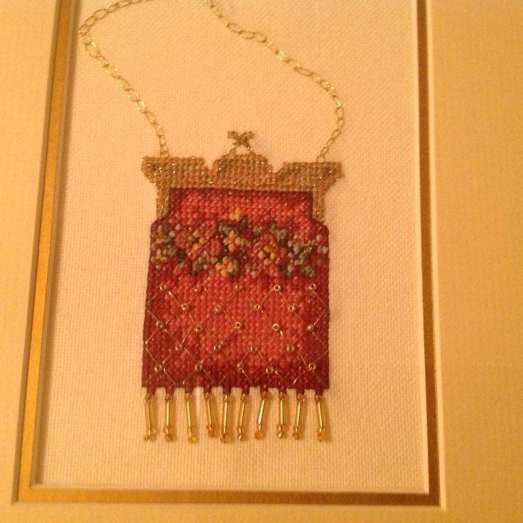 Cross stitched purse