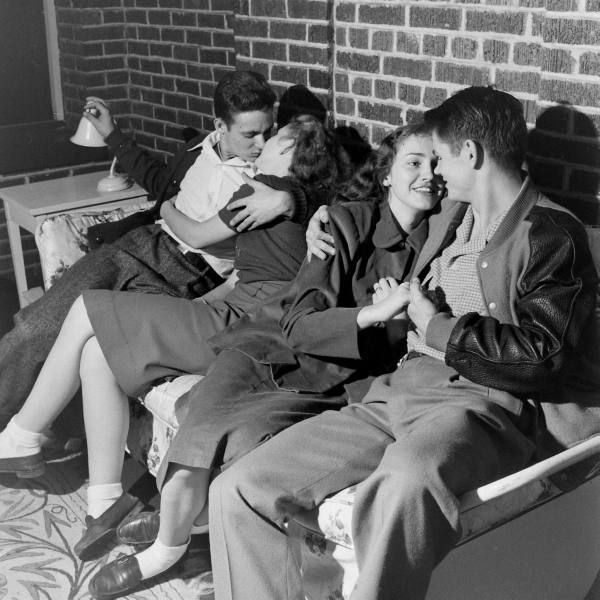 Teens, 1947 These teen couples indulge in a popular pastime. life