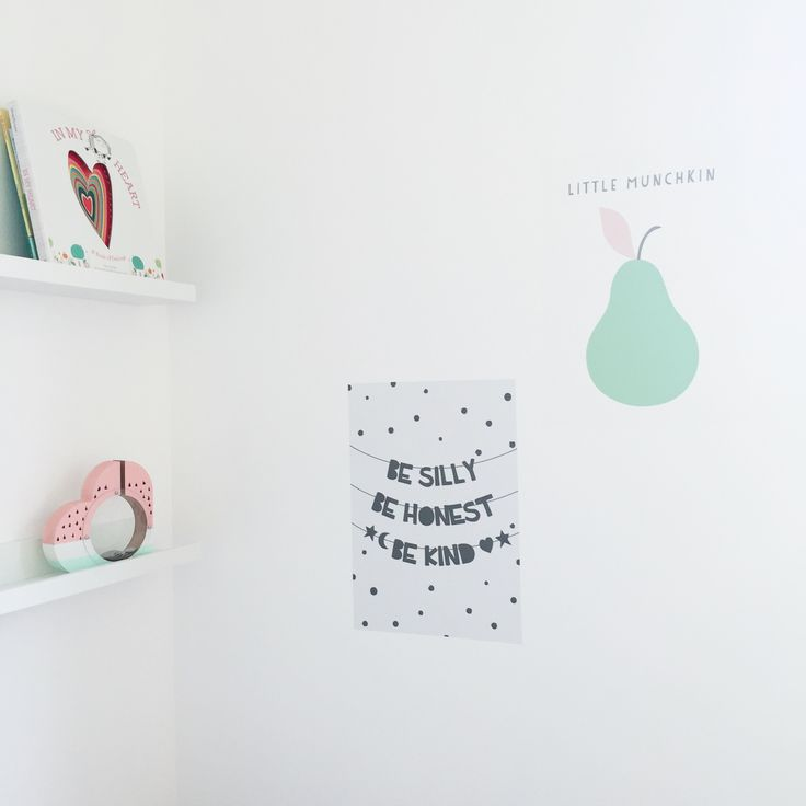 Girls room. Wall sticker posters.