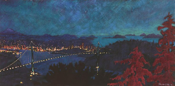 Nocturne - South from Cypress Mountain by David Houghton