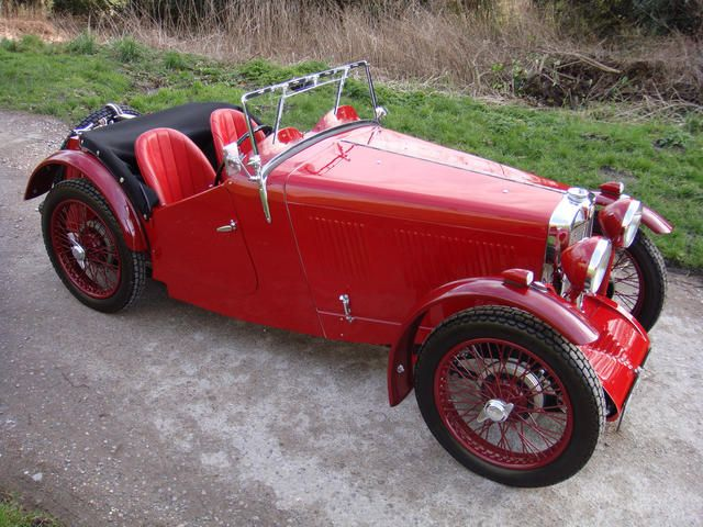 1932 MG Midget J2 Roadster Chassis no. J2451 Engine no. 1958AJ