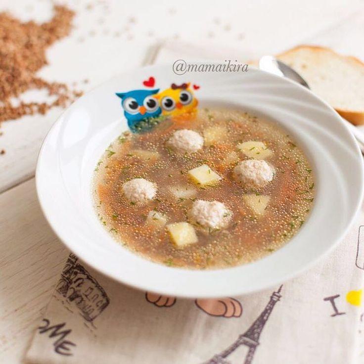 Суп с гречкой и куриными фрикадельками