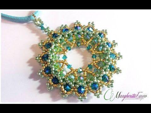 Tutorial con swarovski delica e seed beads. Pendente Eldor