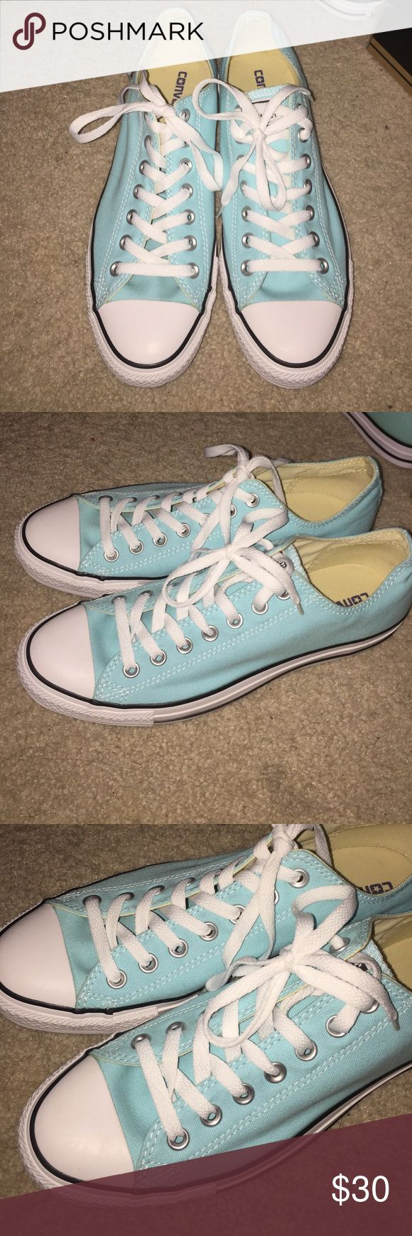 Converse All Star size 11 in women's Baby blue/ Tiffany blue converse. Never been worn! Got them today and realized they're too big! Converse Shoes Sneakers