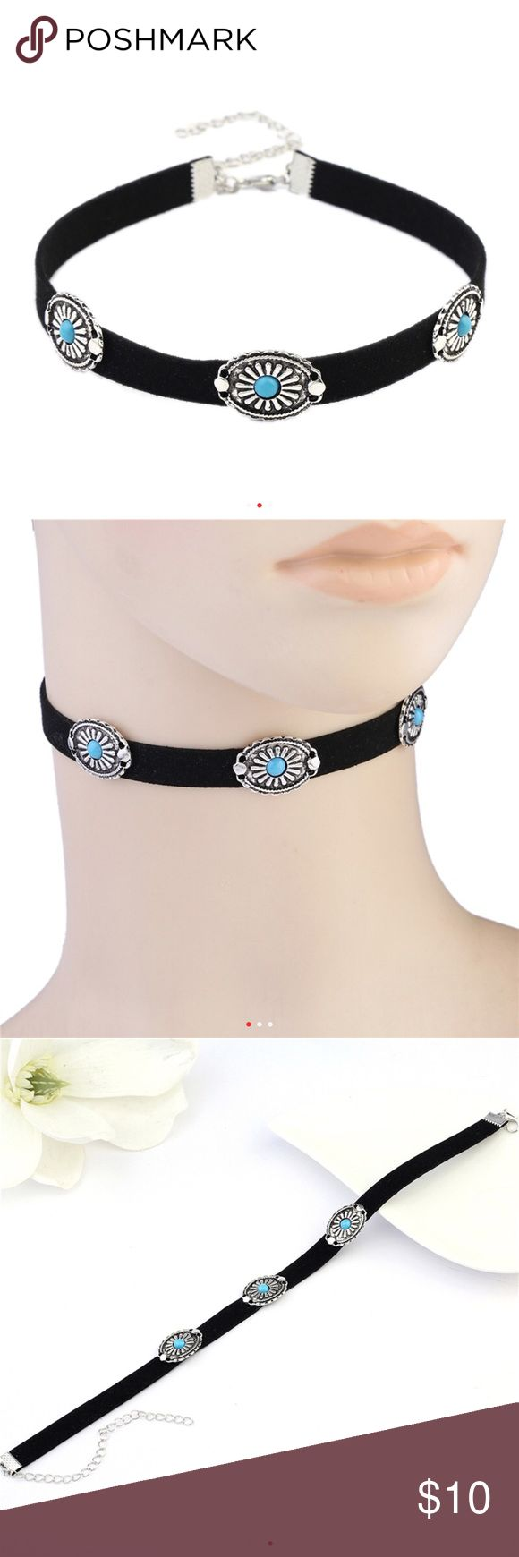 💎2 LEFT💎 Black or White Turquoise Western Choker 🔻BLACK OUT OF STOCK🔻2 WHITE🔻  BRAND NEW  All items arrive adorably gift wrapped. 🎁  Simply bundle your items & save 💲💲💲  WHILE SUPPLIES LAST  Thanks for your support & enjoy! 💕  TAGS ONLY: NOT: Nasty Gal Victoria's Secret Ulta Sephora MAC H&M Lululemon Francesca's kate spade J. Crew Kardashian Free People Juicy Stella & Dot Tory Burch Smashbox Anthropology Urban Outfitters follow game Kylie contour metallic shimmer lip classy…
