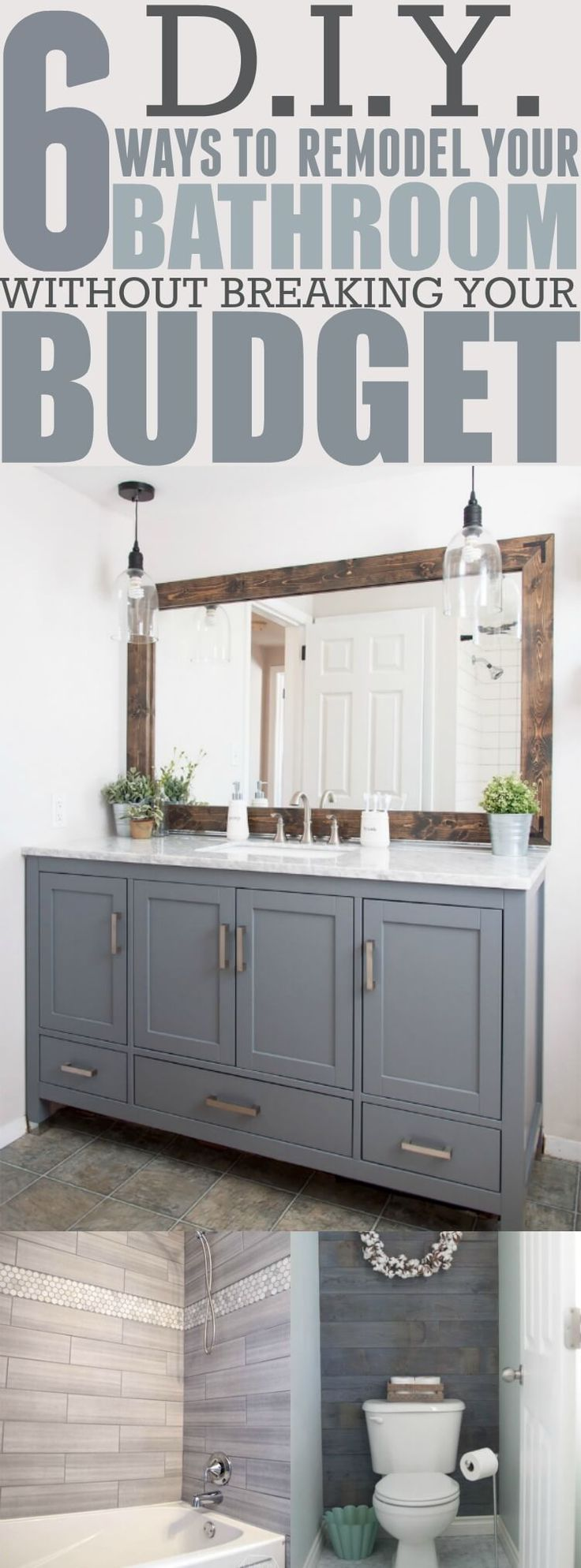 best 25 bathroom remodeling ideas on pinterest small bathroom there are so many ways you can make your bathroom look modern without going over your