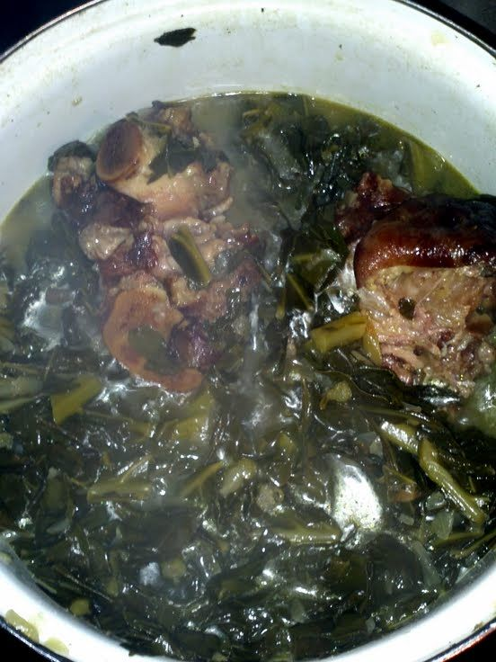 """Smack ya Mama Collard greens with smoke meat! """"Very good and flavorful :chef""""  @allthecooks #recipe #greens #easy #thanksgiving #healthy #christmas"""