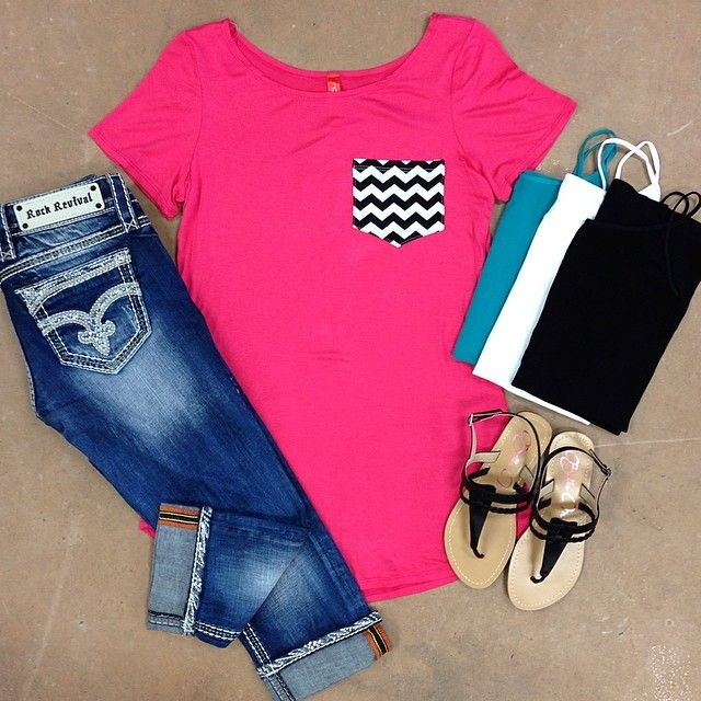 Love the Chevron top and Rock Revival Jeans super cute!!♥♥