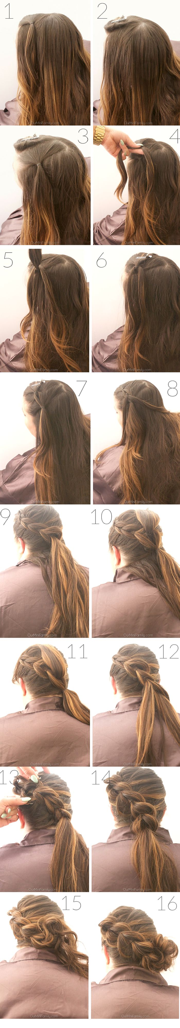 This braided updo keeps my hair from getting wet while I spend my morning in the pool, and it looks cute even after I'm done going for a swim and I'm ready to sit poolside to enjoy some drinks with friends! This summer, braided sidebun hair tutorial has step by step instructions and complementing photos so anyone can do it! ad #WholeBlends
