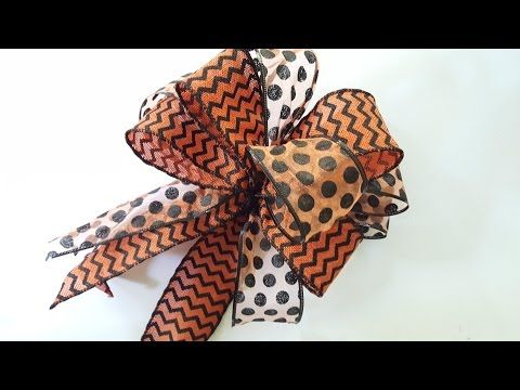 How to Make a Bow | DIY Double Bow | Dollar Tree Ribbon - YouTube