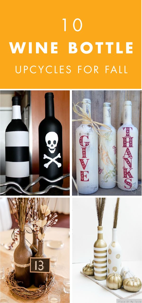 Who knew that everything you needed to decorate your home for Halloween, Thanksgiving, and Christmas could be found in your home bar or bar cart? These 10 Wine Bottle Upcycles for Fall are the perfect DIY projects to give your space a festive feel.