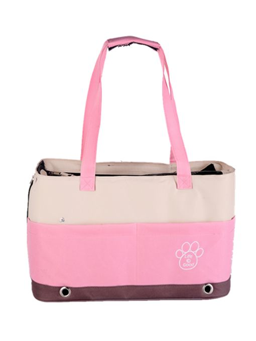 Pink Shoulder Pet Carrier with PawPrint. Side pockets available for treats&bits! http://edenpetz.co.uk/dogs/dogcarrierscrates/shoulderbagcarriers/colourfulbagspets