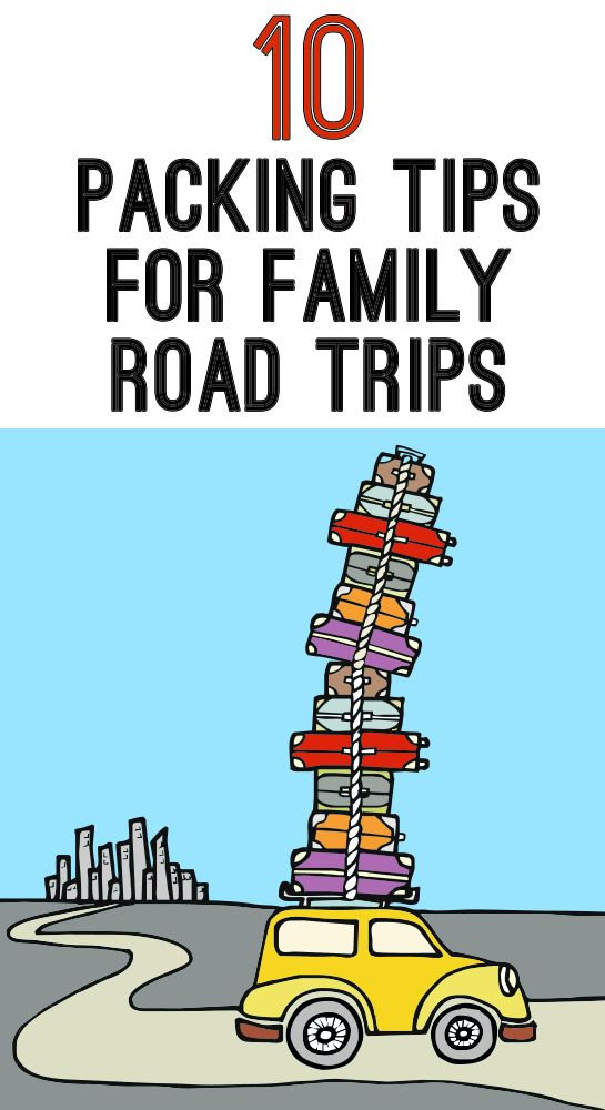 Packing Tips for Family Road Trips - Tips and tricks to making sure you pack everything your family needs while traveling by road. #travel