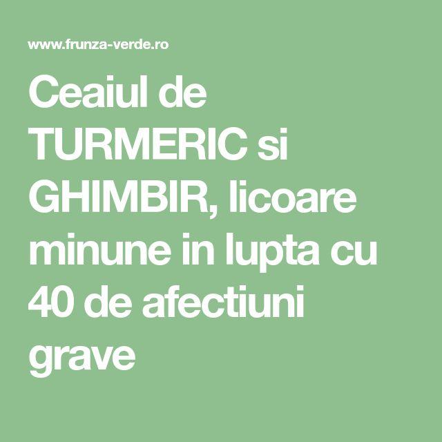 Ceaiul de TURMERIC si GHIMBIR, licoare minune in lupta cu 40 de afectiuni grave