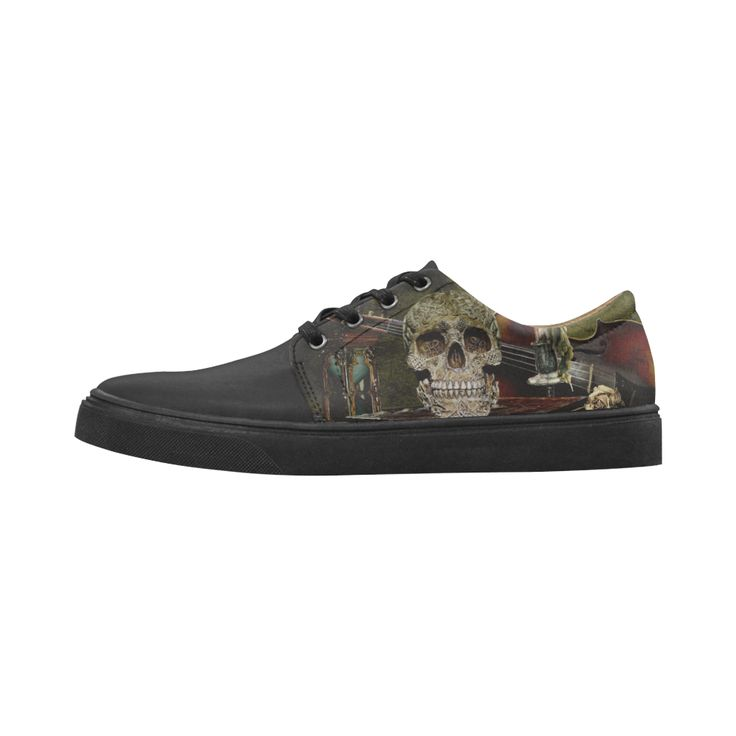 Funny Skull and Book Cygnus Pointed Toe Women