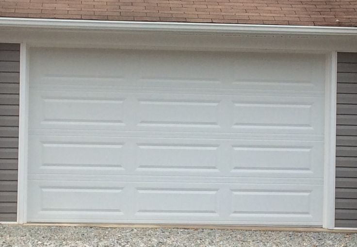 12x7 Model 4251 Raised Long Panel Steel Garage Door Installed By The Richmond Store Garage Door Panels Steel Garage Doors Door Installation