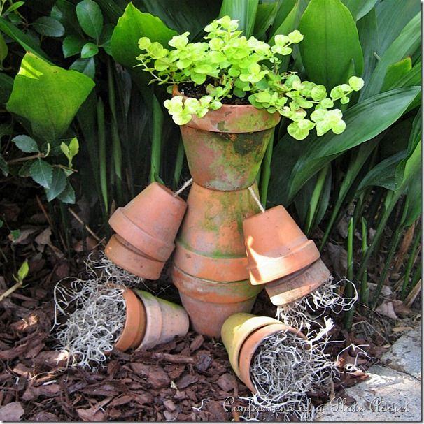 Tutorial: A Rustic Flower Pot Man For Your Garden