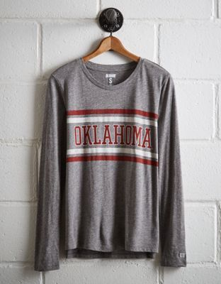 On sale for 26.70 and size xsmall   Tailgate Women's Oklahoma Long Sleeve T-Shirt by  American Eagle Outfitters | The Sooners have scored more points than any other college football team. Ever. That's over 33,000.The Sooners have scored more points than any other college football team. Ever. That's over 33,000. Shop the Tailgate Women's Oklahoma Long Sleeve T-Shirt and check out more at AE.com.