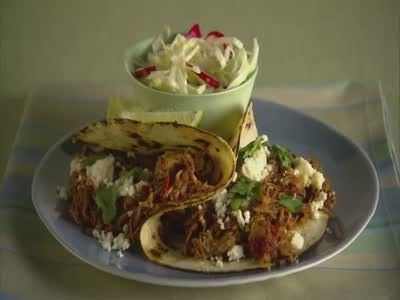 Allie Lewis shares an inexpensive shredded pork taco recipe, perfect for game night.