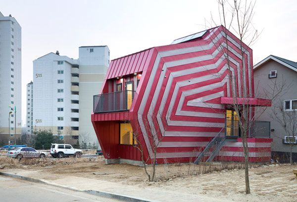 Oddly-shaped home in South Korea.