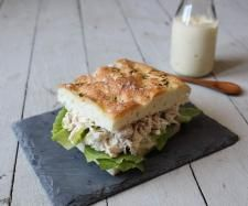 Recipe Maggie Beer's Chicken and verjuice mayonnaise focaccia by Maggie Beer - Recipe of category Baking - savoury