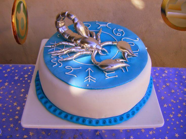 Scorpio Birthday Cake Image