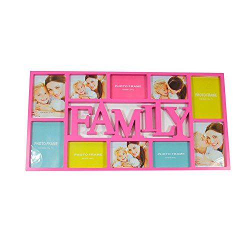Felices Pascuas Collection 28.75 inch Pink Dual-Sized inch Family inch Photo Picture Frame Collage Wall Decoration