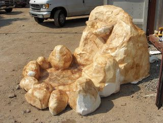 Faking nature - making prop rocks out of foam | The art of faking it - Stage design, themed rooms, props and more