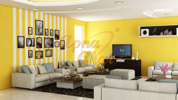 Beautiful Drawing Room Interior Design by ApnaGhar Expert Designers We have range of design choices to match you taste. More details - www.apnaghar.co.in/ Call Toll-Free No.- 1800-102-9440 Email: support@apnaghar.co.in #design #interiorsolutions #floorplans #architecture