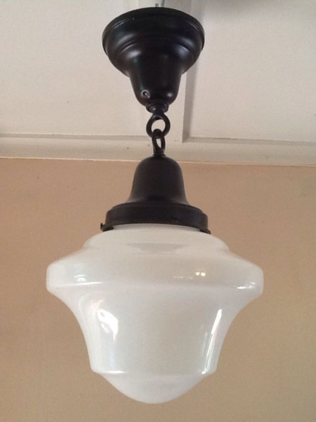 Antique Hanging Church Industrial Or School House Pendant Light