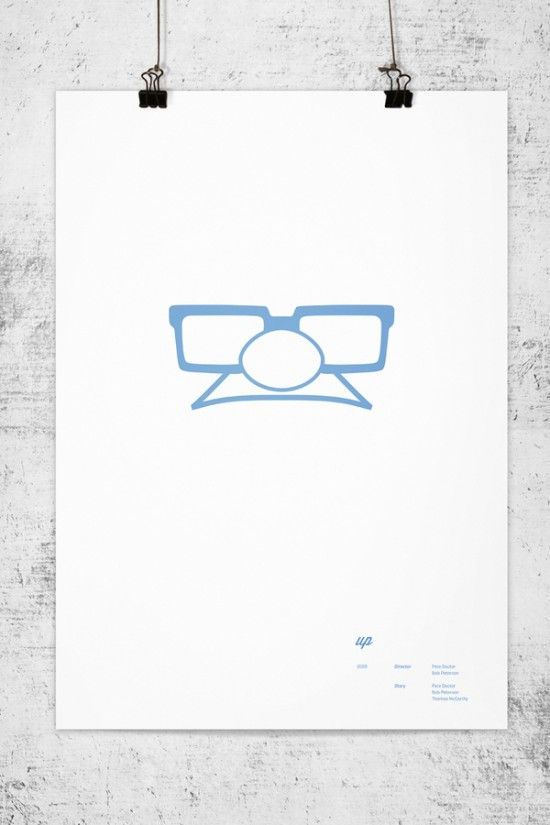 Up - Lee Wonchan offers us minimalist visuals of heroes from Pixar animated films. (Fubiz)