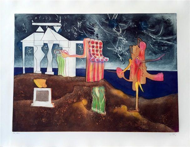 12PM - L'Arc Obscur Des Heurs by Roberto Matta