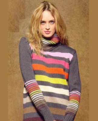Радужный пуловер