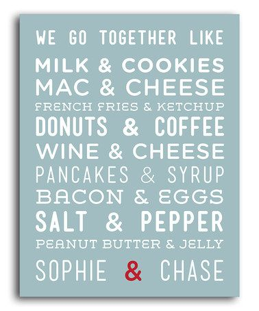 Look at this #zulilyfind! 'We Go Together' Personalized Print #zulilyfinds