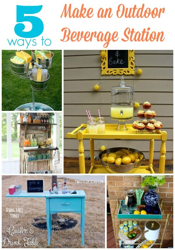 5 Outdoor Beverage Station Ideas