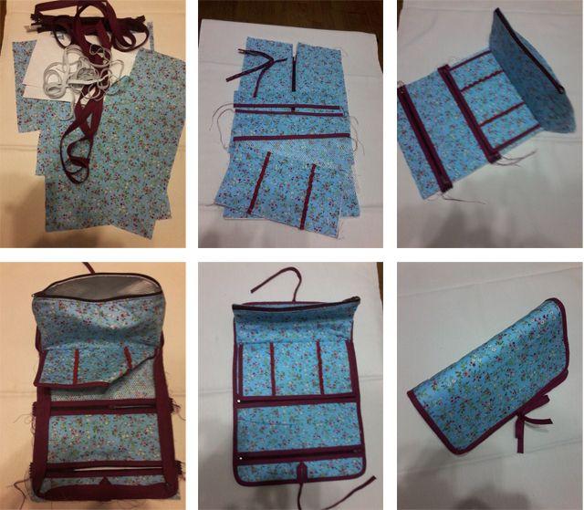 Como hacer bolsa de aseo paso a paso bolsas monederos y - Hacer bolsos de tela paso a paso ...