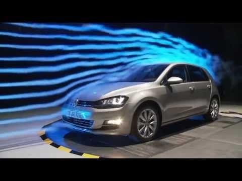 Volkswagen Golf 7 wind tunnel test