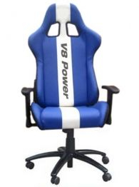 Calling all V8 Supercar and Ford Motorsport fans. Check out this V8 Power striped office chair. Exclusively designed for the Aussie rev head.  Ergonomically designed for comfort, posture and durability with a well balanced metal chassis.