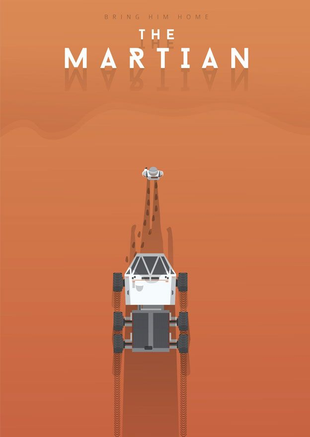 El cartel de la película mínima de Marte