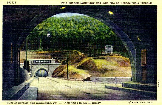 History and pictures of the Pennsylvania Turnpike and tunnels