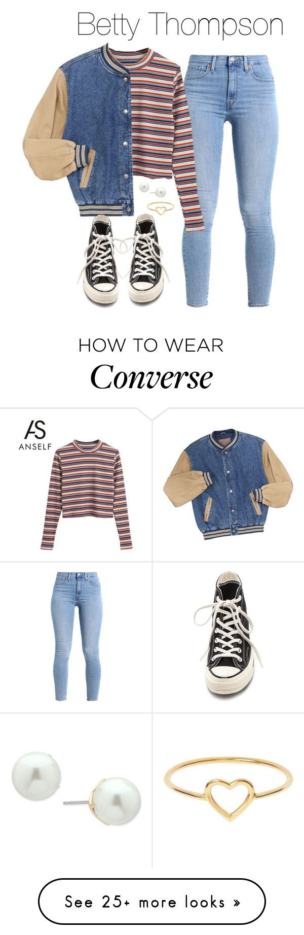 """Betty Thompson (Stranger Things)"" by demiwitch-of-mischief on Polyvore featuring Levi's, Converse, Love Is and Ivanka Trump"
